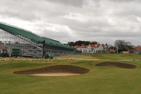 Grandstands at 18th, Muirfield