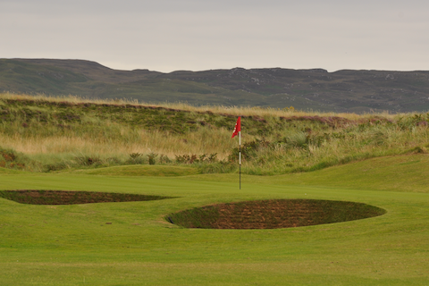 Two of very few bunkers at Machrie